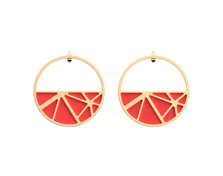 solaire-hoop-earrings-gold-finish-coral-navy-blue-les-georgettes.jpg