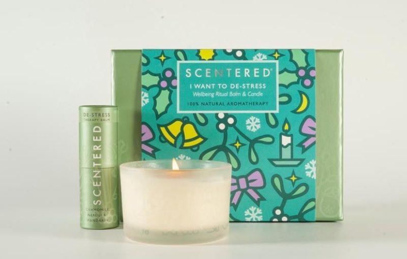 de stress fragrance gift set candle