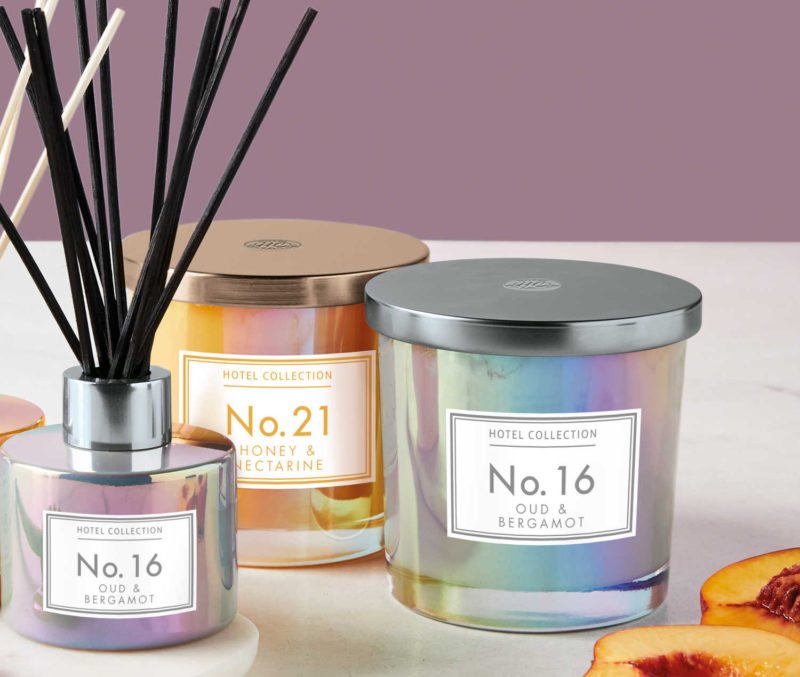 Aldi Hotel Collection Iridescent Candle £0.79
