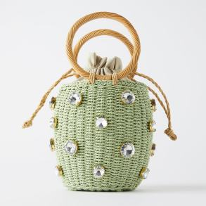 zara basket bag