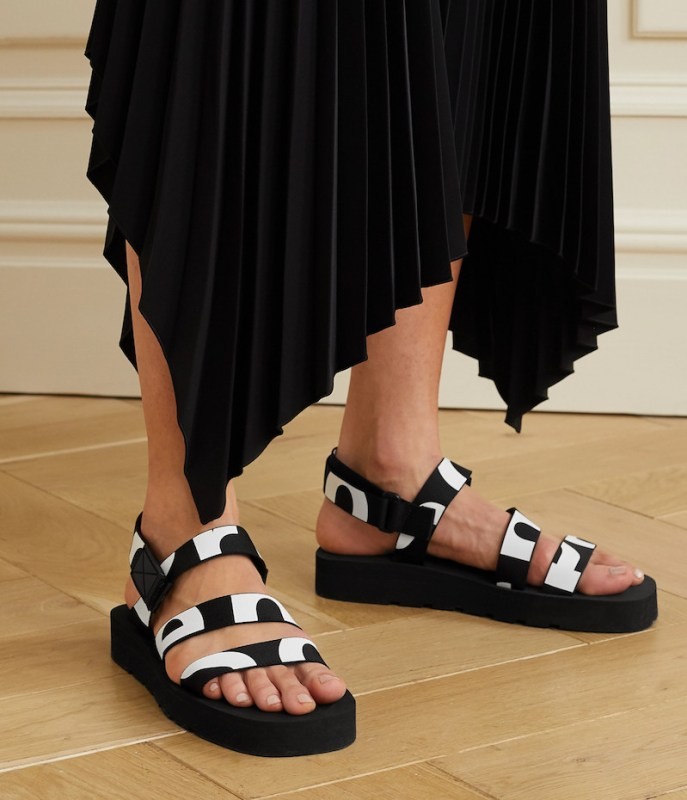 PROENZA SCHOULER Logo-print canvas slingback sandals, £345