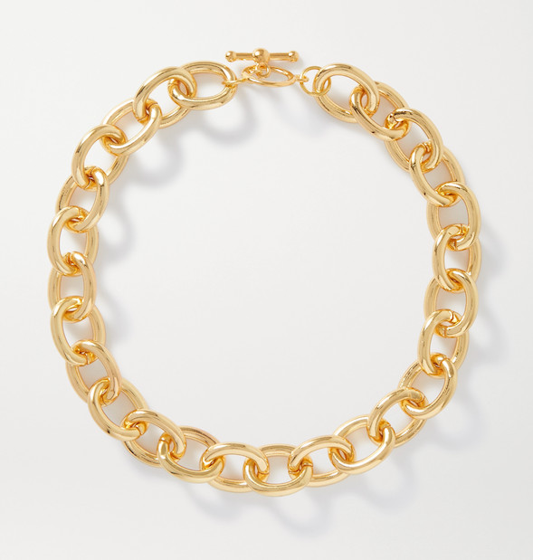 KENNETH JAY gold chunky necklace