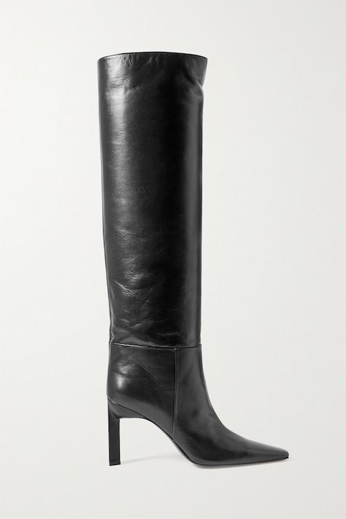 THE ATTICO Vitto Leather Knee Boots