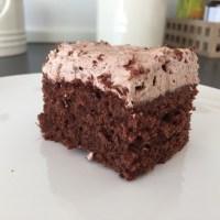 Chokolade med rutebil-topping