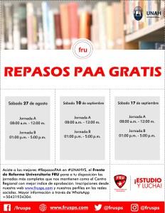 Afiche Repasos PAA Nuevo 09-16