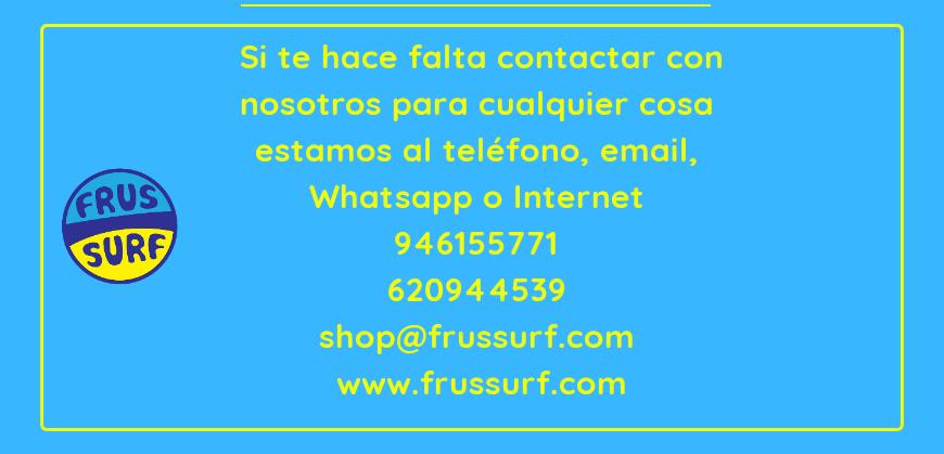 Formas de contactar con FrusSurf