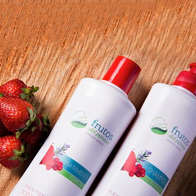 shampoo y tratamiento de Frutos Rojos y Romero, Frutos del Paraíso
