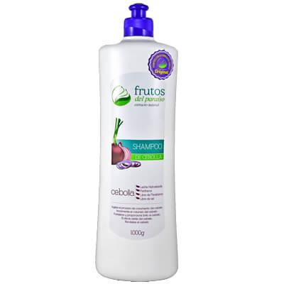 Shampoo de cebolla Frutos del Paraíso ideal para el crecimiento del cabello de una manera más rápida