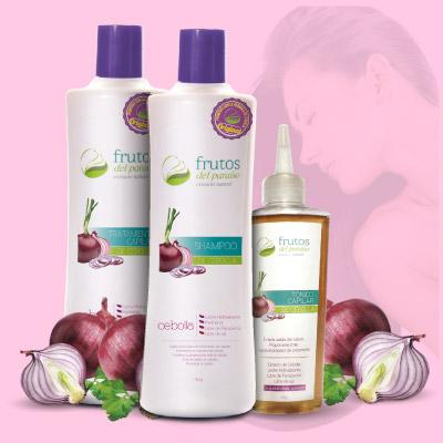 shampoo de cebolla, tratamiento de cebolla, tónico de cebolla