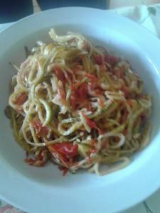 spaghetti di zucchina scottati...