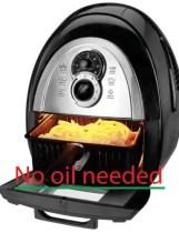 No oil needed inthe kalorik air fryer