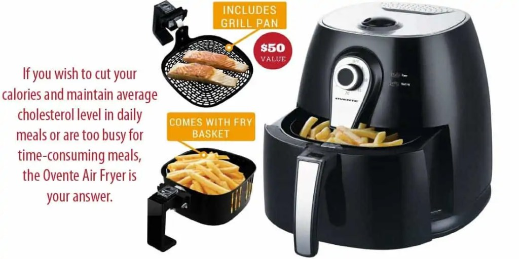 Ovente Electric Air Fryer