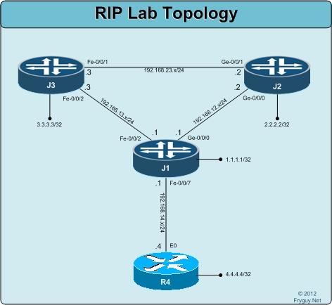 RIP Lab Topology