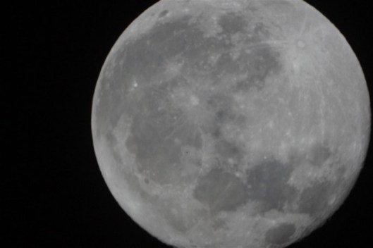 Actual picture of the moon with my NEX3 and Telescope