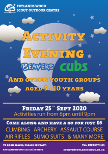 Activity Evening - Younger Sections