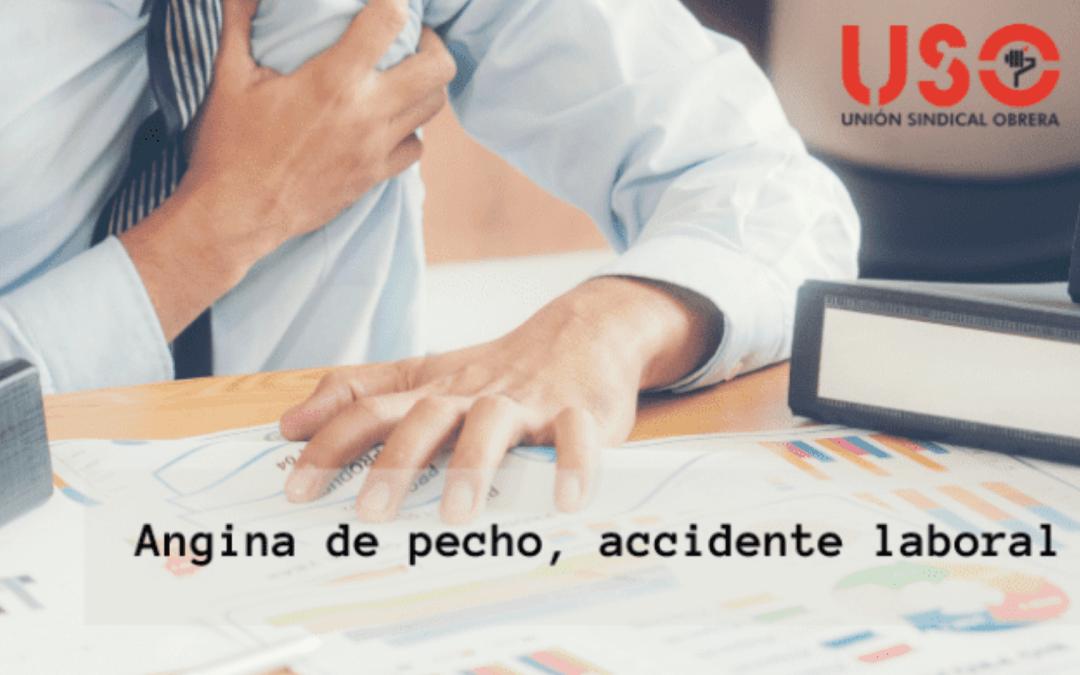 Sentencia que declara accidente laboral la angina de pecho tras comunicar un despido a un trabajador.