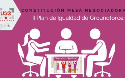 Constitución de la mesa negociadora del II Plan de Igualdad de Groundforce.