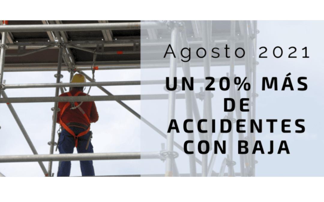 Los accidentes de trabajo con baja, aumentan un 20%
