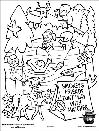 smokey the bear coloring pages # 8