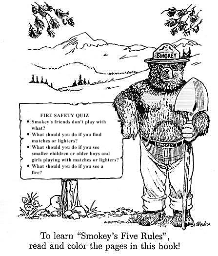 smokey the bear coloring pages # 20