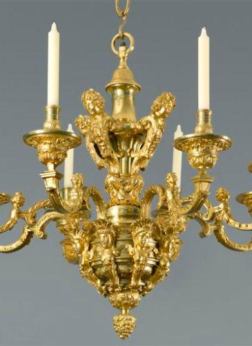 Louis XVI bronze dore chandelier from Kraemer Gallery Paris