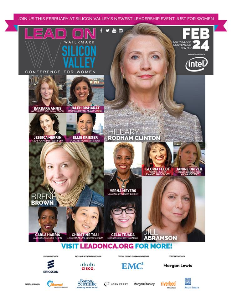 Diane von Furstenberg, Candy Chang Join Hillary Rodham Clinton as Keynote Speakers for 2015 Lead On Watermark Silicon Valley Conference for Women