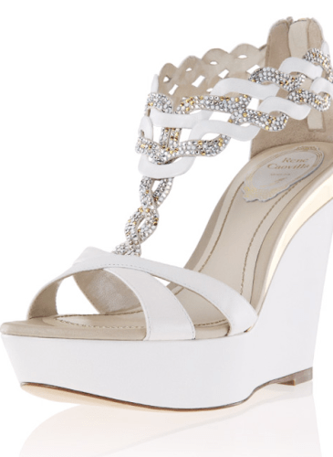 Spring_Katherine_White wedge sandal with crystal weaving