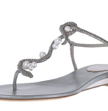 Spring_Pearl Snake_Pearly snake flat sandal with micro crystals