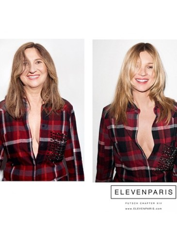 Nathalie Croquet spoofs an ElevenParis ad with Kate Moss