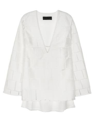 Grid Lace Mini Dress