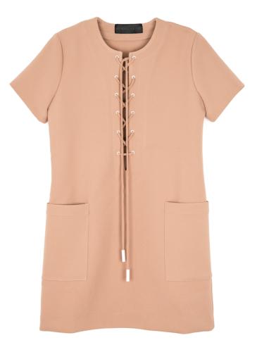 Lace-Up Safari Dress