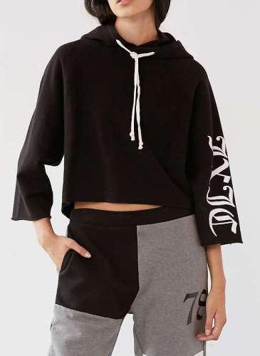 UO X Juicy black Hoodie suit.1