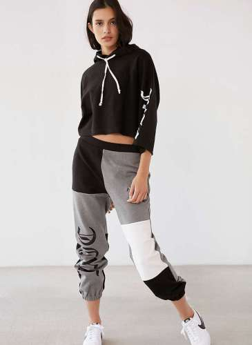 UO X Juicy black Hoodie suit.2