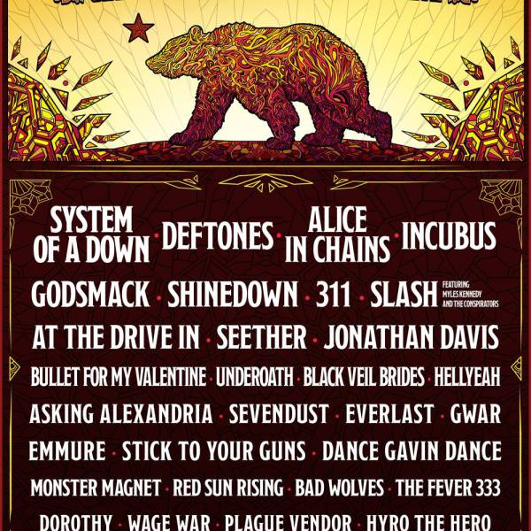 AFTERSHOCK FESTIVAL DROPS ITS 2018 LINEUP WITH SYSTEM OF A DOWN & THE DEFTONES TOPPING THE BILL