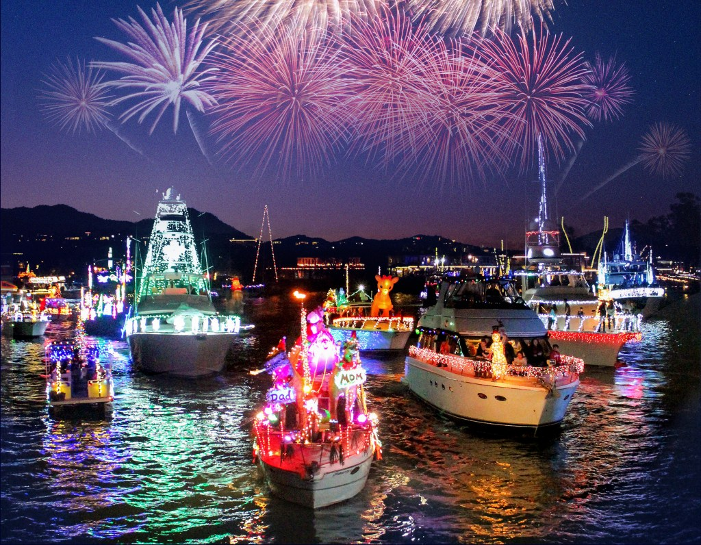 14-Mile Floating Festival of Christmas Lights and Decorations Returns to SoCal Yacht Town