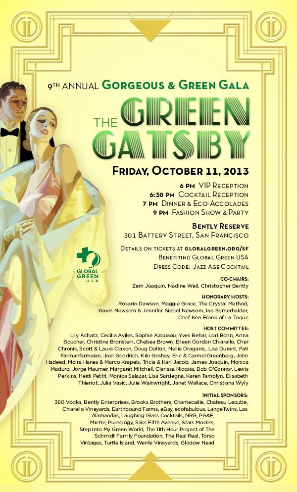 Global Green USA Announces 9th Annual Gorgeous & Green Gala in San Francisco