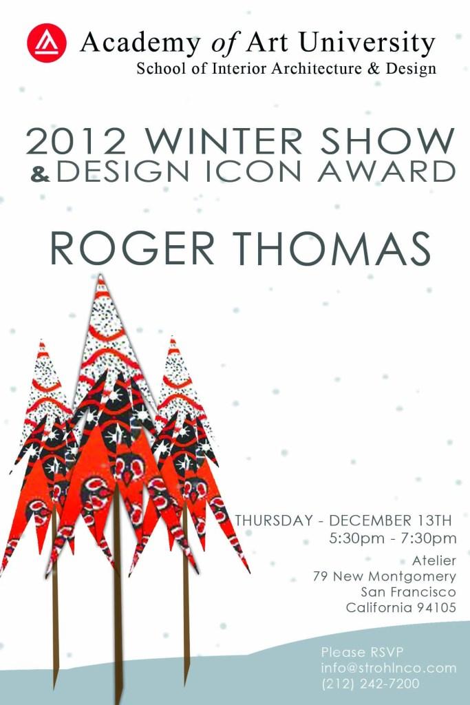 Roger Thomas – 2012 Academy of Art Design Icon