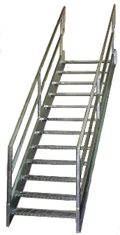 Galvanized Stairs Metal Stairs Osha Prefab Stairways | Prefabricated Exterior Metal Stairs | Stair Case | Spiral Staircases | Stairways | Stair Systems | Wrought Iron