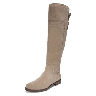 Grey Suede Flat Knee Boots Knee High Boots image 1