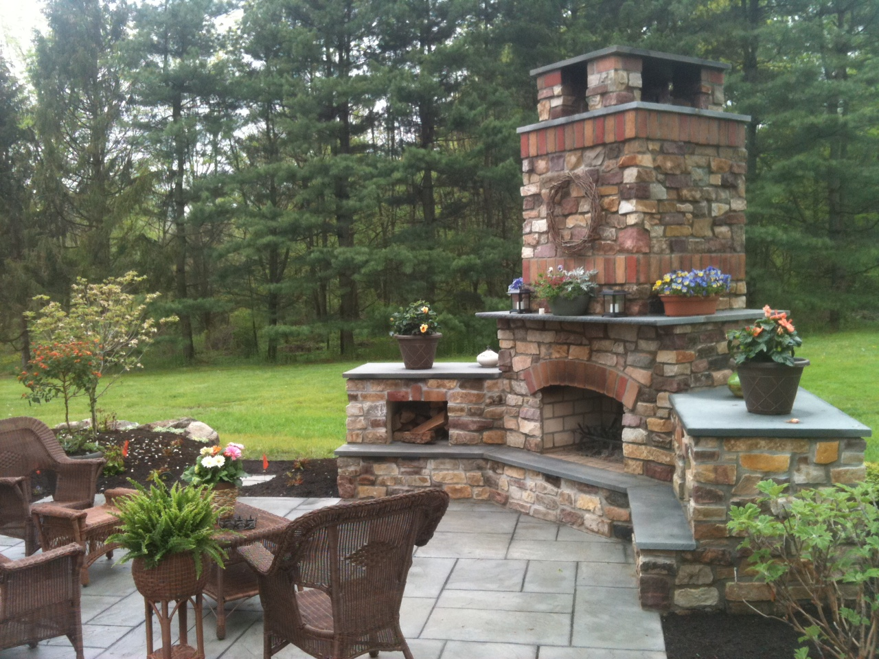 """Tag Archive for """"Outdoor Fireplace Ideas"""" - Landscaping ... on Small Outdoor Fireplace Ideas id=18851"""