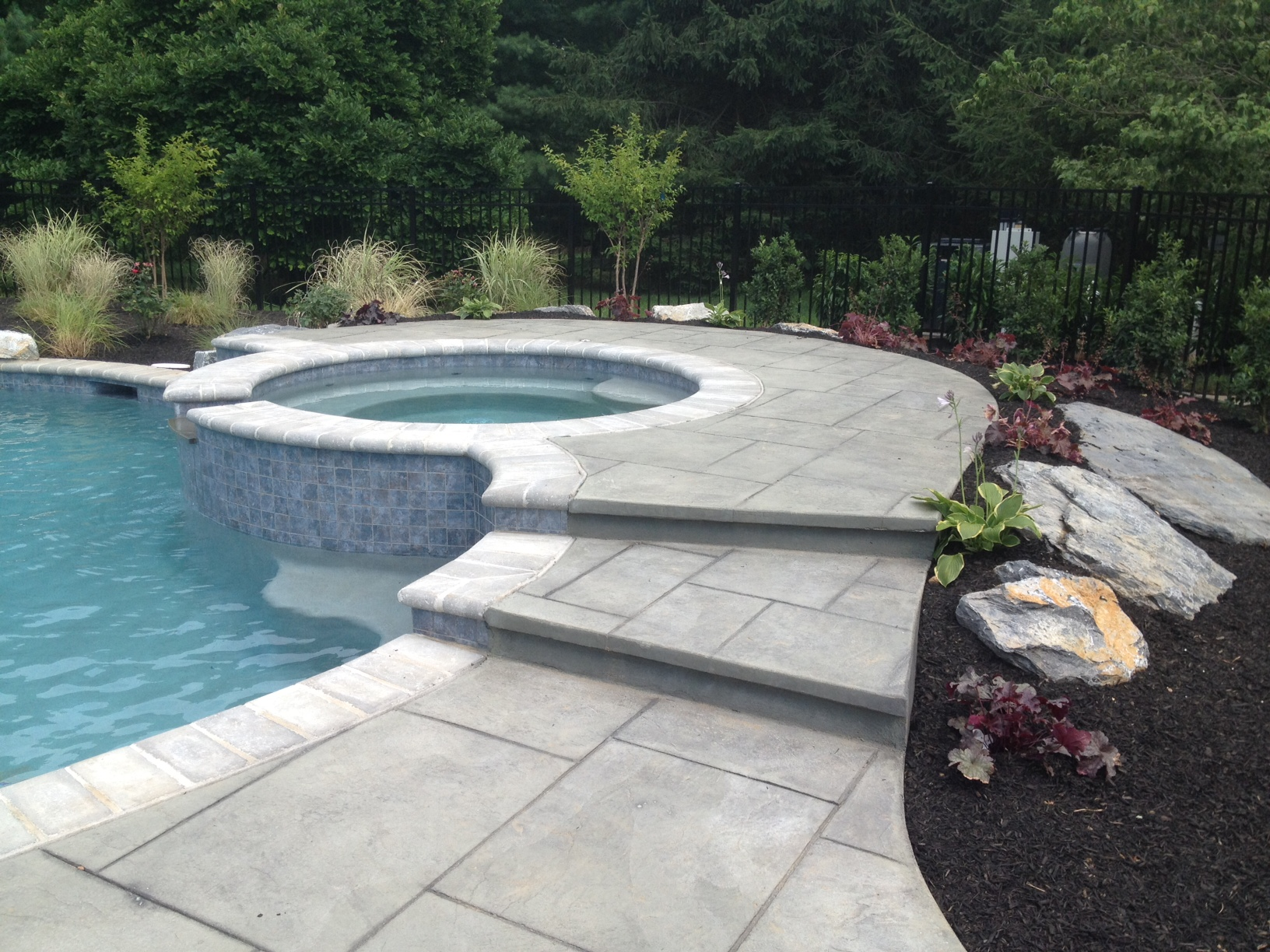 """Tag Archive for """"aluminum fence"""" - Landscaping Company NJ ... on Patio Ideas Around Pool id=55136"""