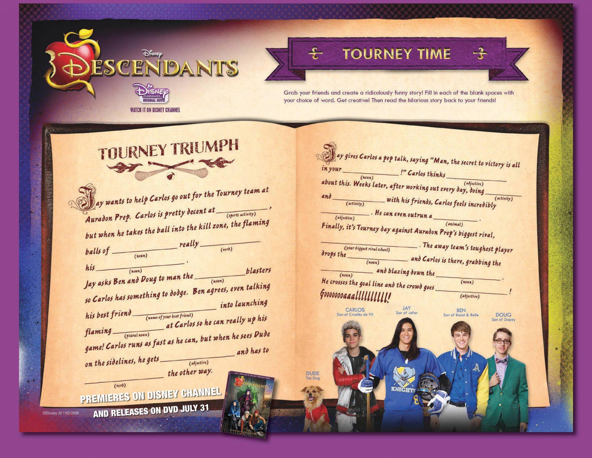 Disney Descendants Bookmarks Family Tree Activity And