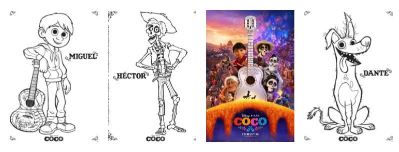 DisneyPixars COCO Printable Coloring Pages PixarCoCo
