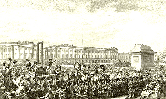 Beheading of Louis XVI, via Frank Smitha