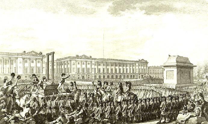 Beheading of Louis XVI, via Frank Smitha