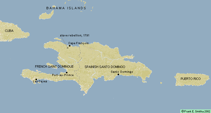 Map: St. Dominigue (Haiti),