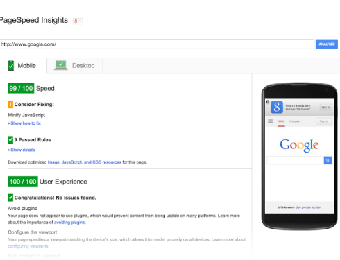 About Google' s PageSpeed Insights