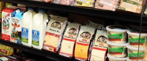 organic and natural meat and dairy in store
