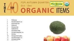 The top 40 organic items from October - December