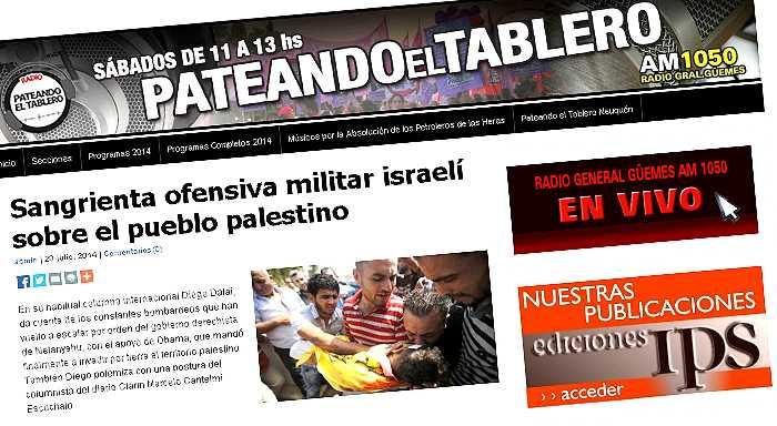 Argentina | Sangrienta ofensiva militar israelí sobre el pueblo palestino